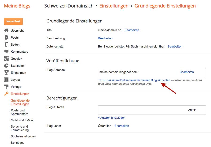 Eigene Domain Fur Blogspot Com Knowledgebase Schweizer Domains